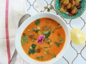 moroccan lentil carrot soup Piquant Post casablanca blend