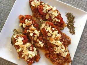 stuffed eggplant (Imam Bayildi)