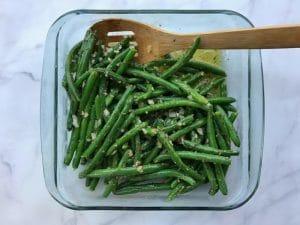 November 2017 box reveal - green beans with shallot vinaigrette