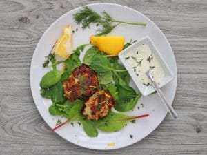 Fish Cakes with Mustard Aioli