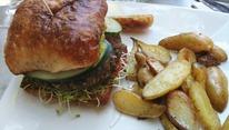 Hamburger vegano de proteína de soja