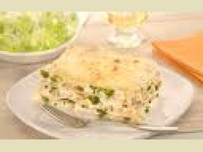 Lasanha de Frango com Brócolis