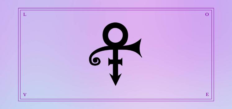 Prince's Love Symbol
