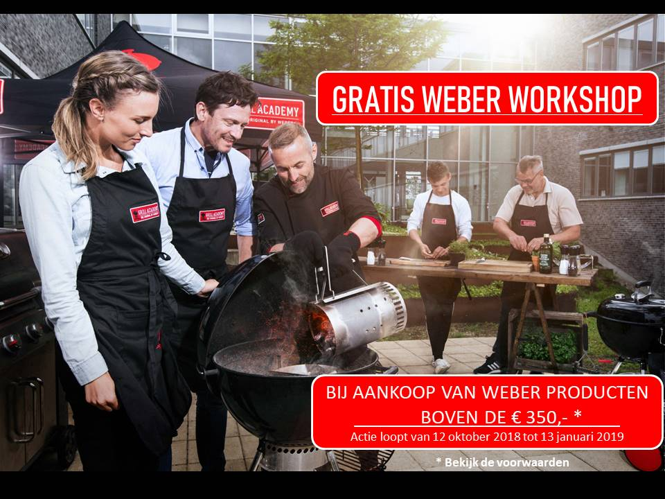 Gratis Weber workshop