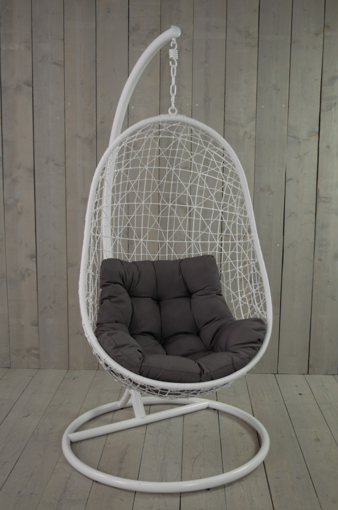 Hangstoel Egg Chair Wit.Gpdesign Sturdy Hangstoel Wit Plaggenmarsch Tuinmeubelen