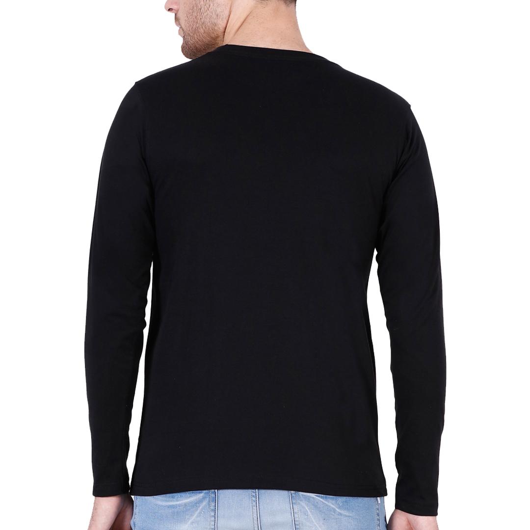 Full Sleeve Men T Shirt Black Back