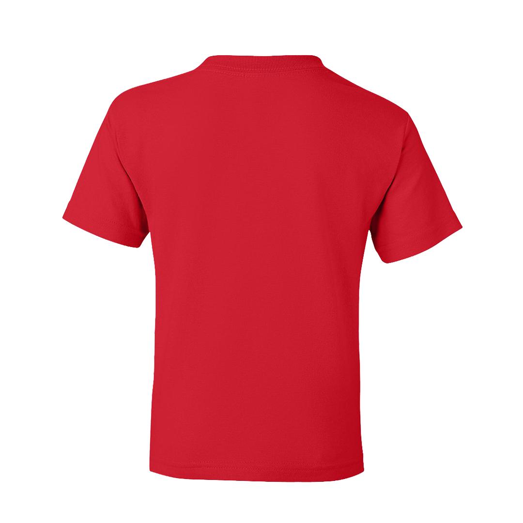 Kids T Shirt Red Back