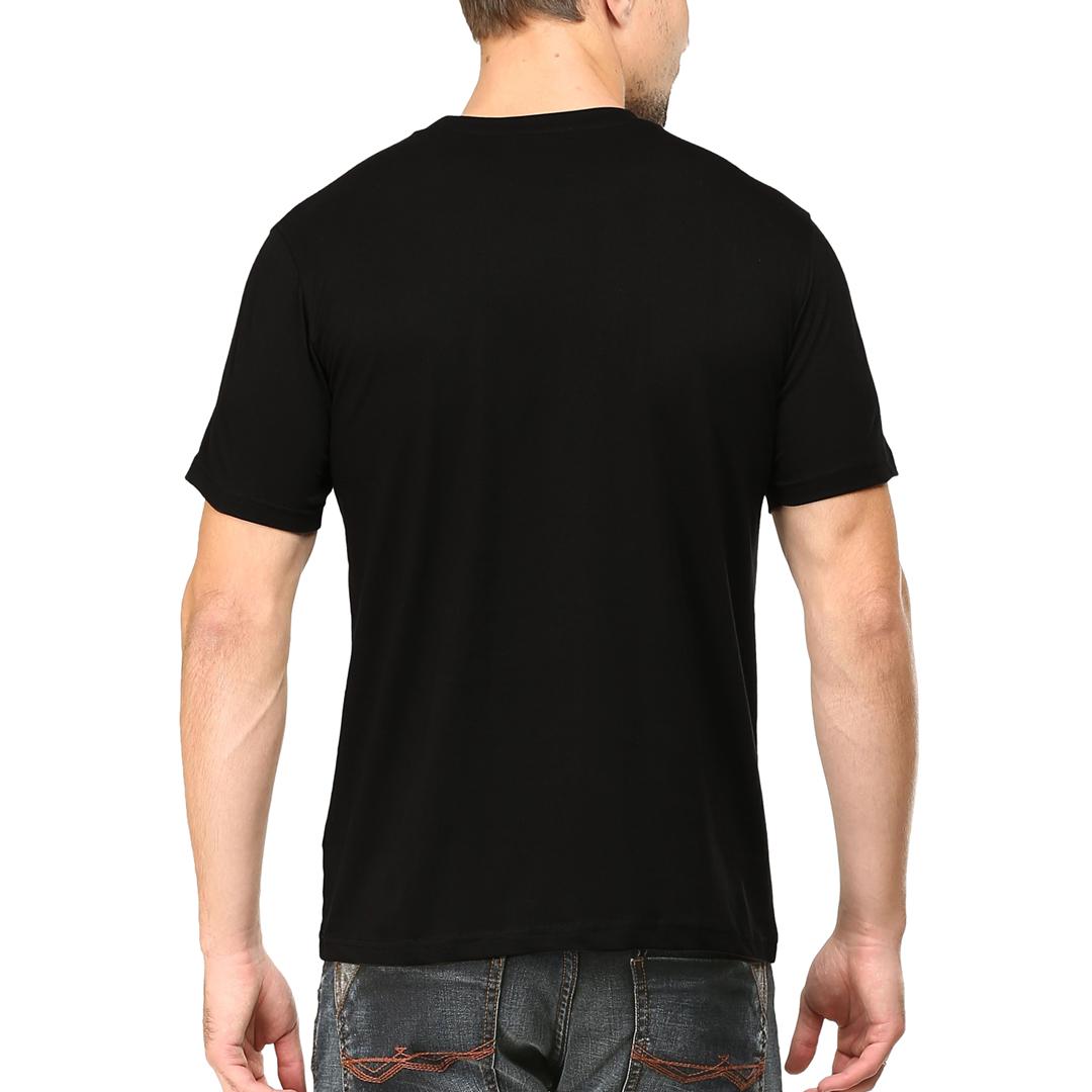 Men T Shirt Black Back