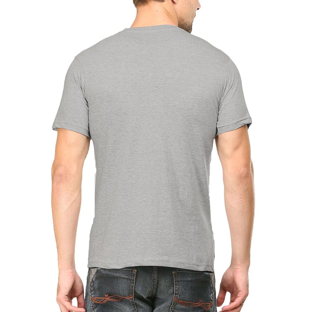 Men T Shirt Grey Back