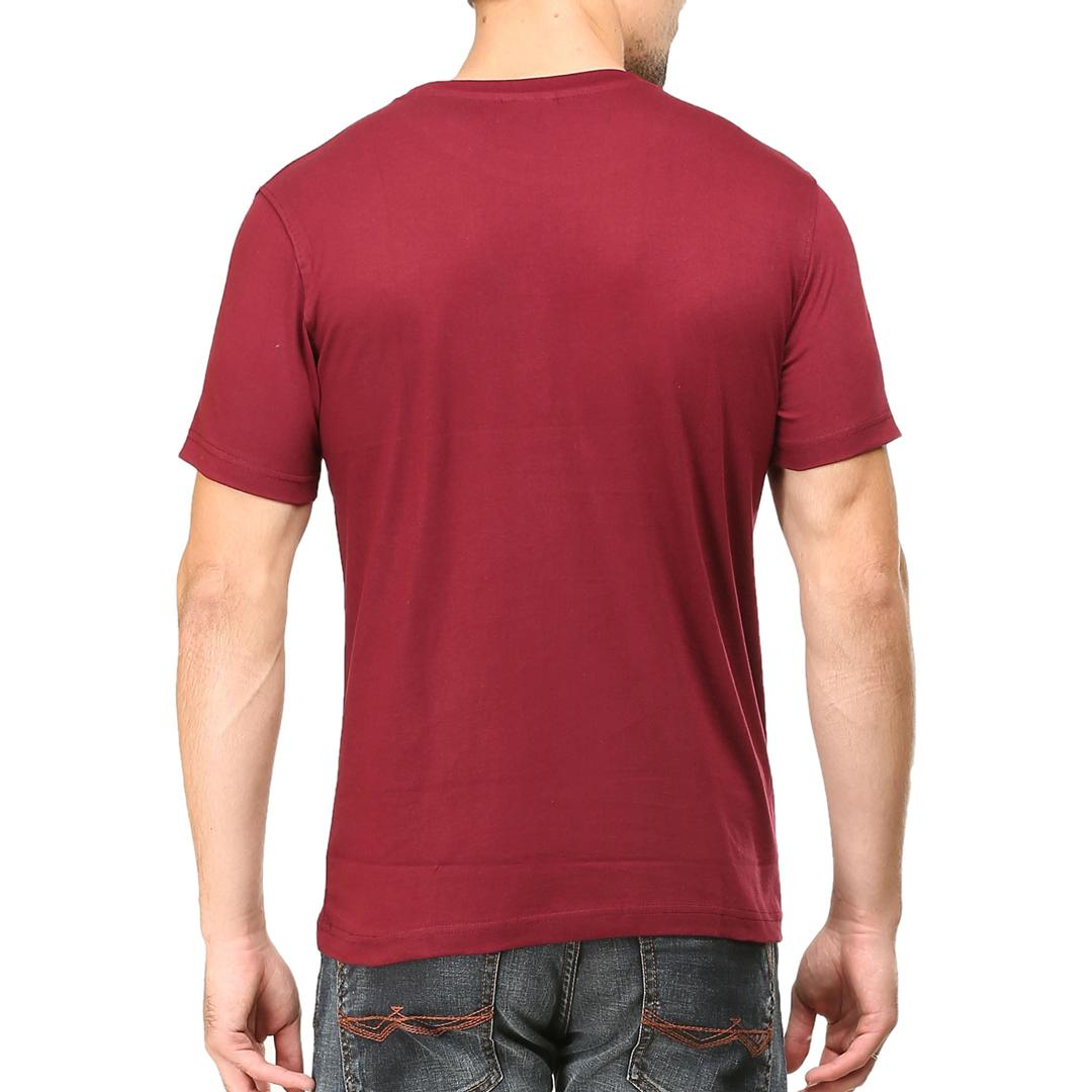 Men T Shirt Maroon Back