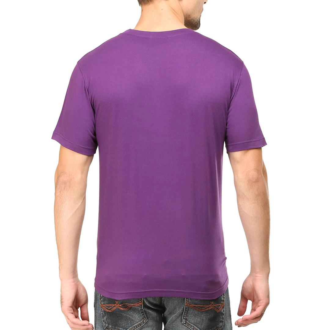 Men T Shirt Purple Back