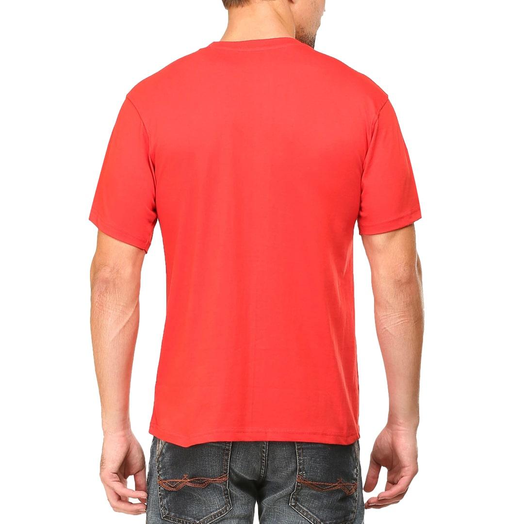 Men T Shirt Red Back