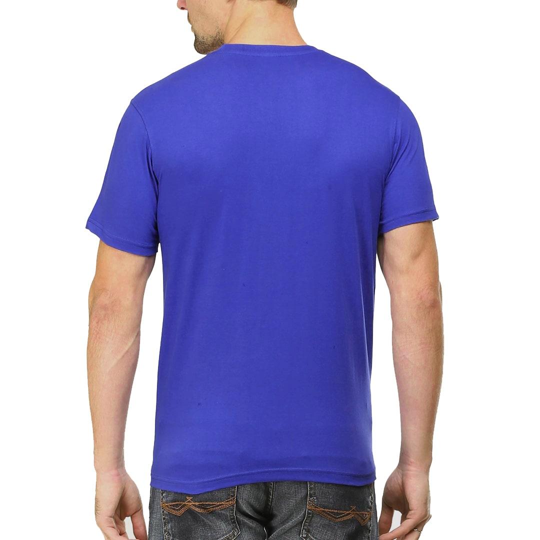 Men T Shirt Royal Blue Back