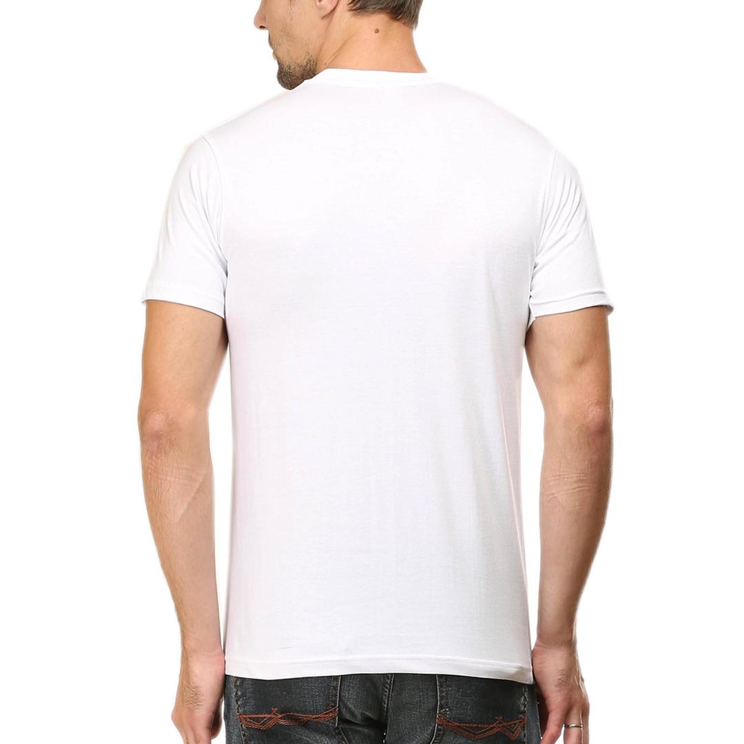 Men T Shirt White Back