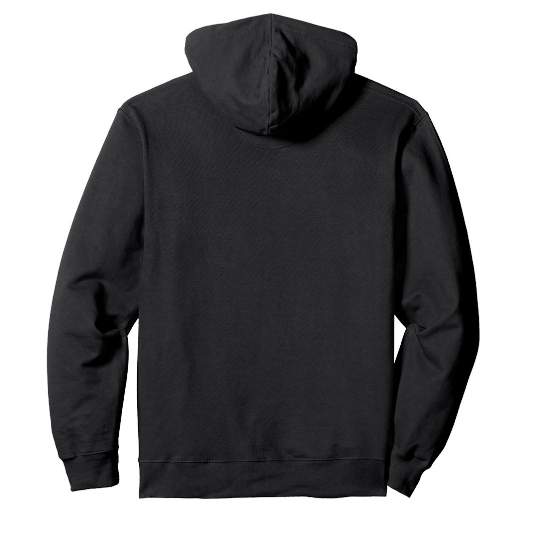 Unisex Hooded Sweatshirt Hoodie Black Back