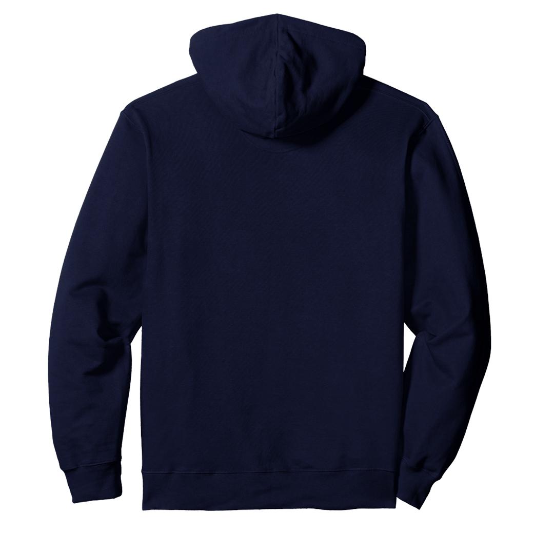 Unisex Hooded Sweatshirt Hoodie Navy Back