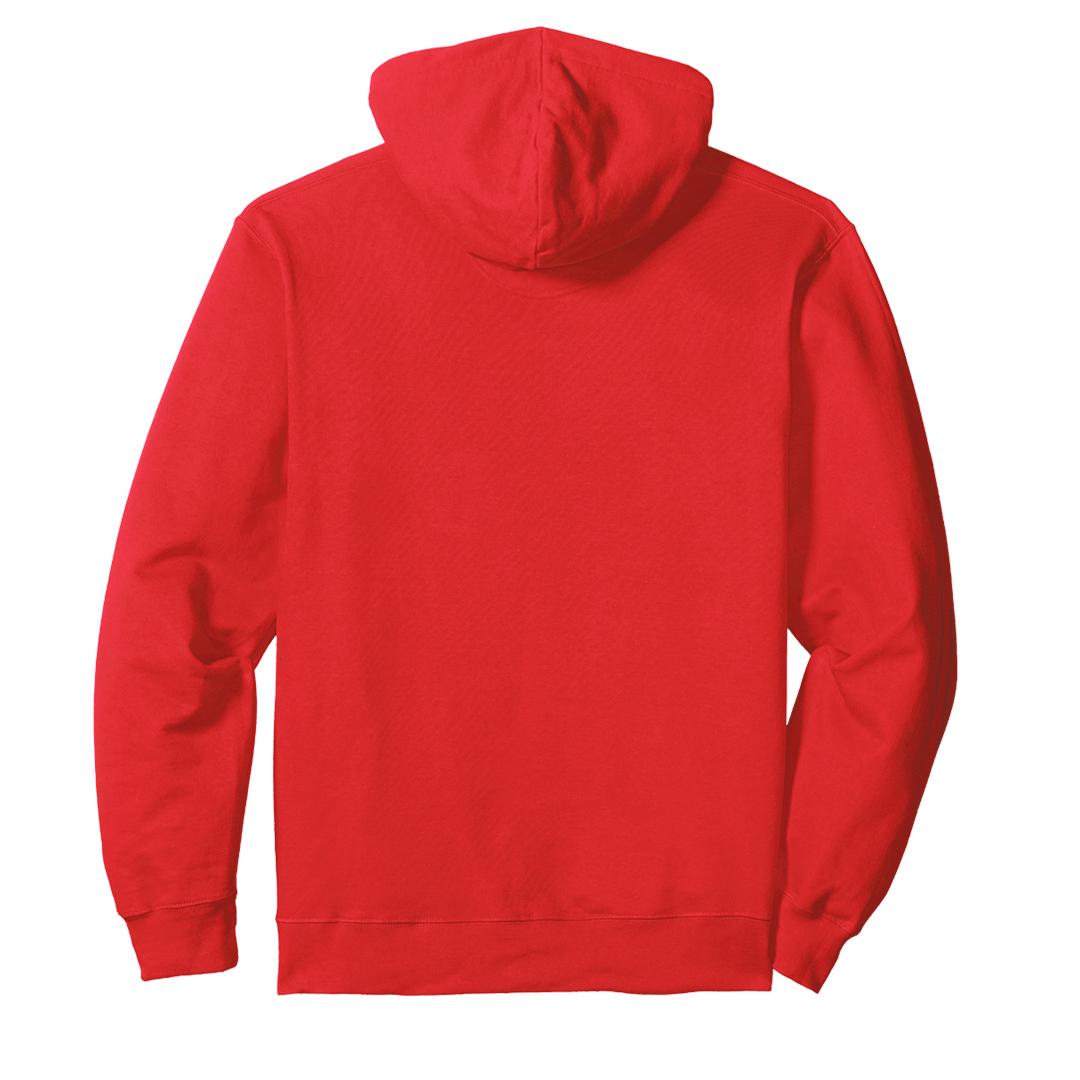 Unisex Hooded Sweatshirt Hoodie Red Back