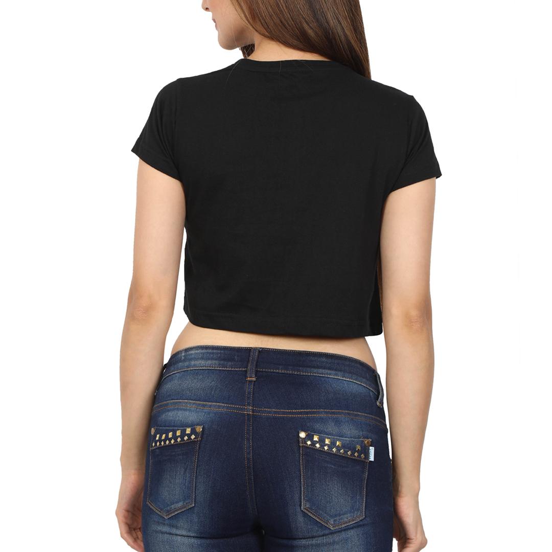 Women Crop Top Black Back