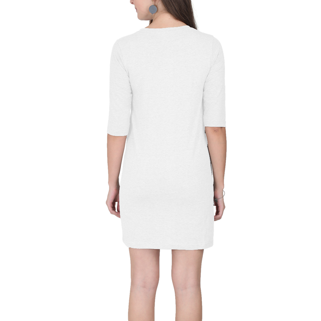 Women T Shirt Dress White Back