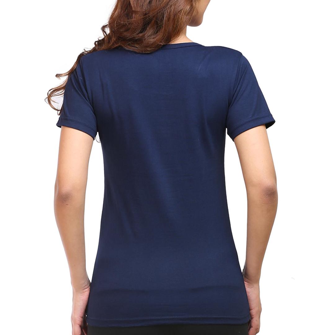 Women T Shirt Navy Back