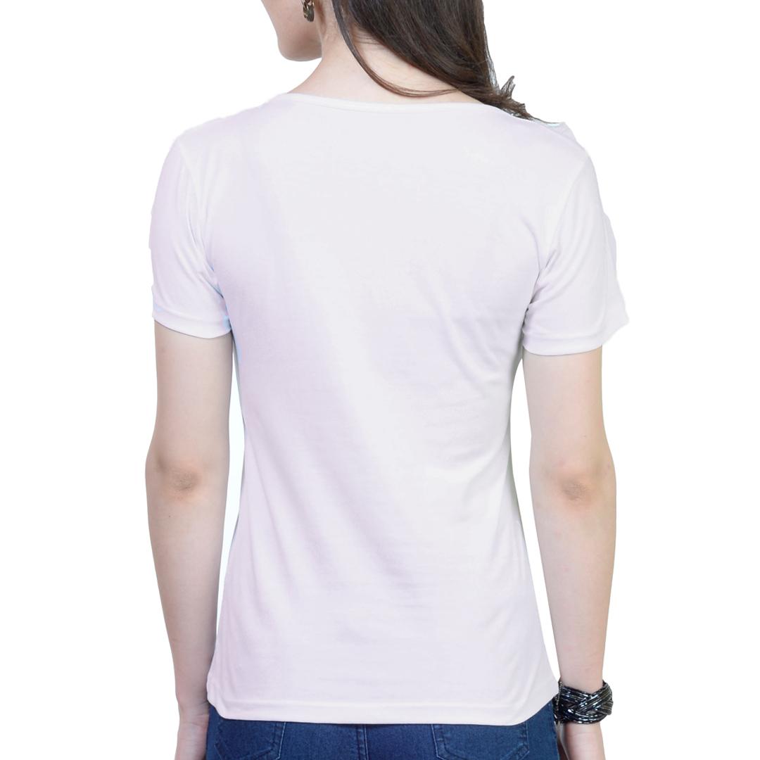 Women T Shirt White Back