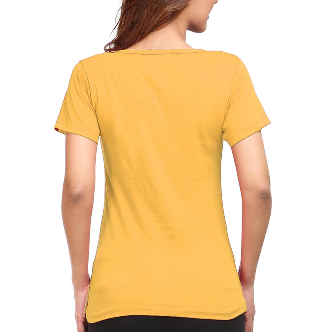 Women T Shirt Yellow Back