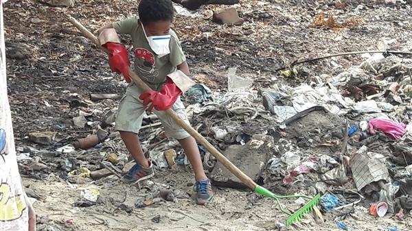 enfant nettoyage guinée