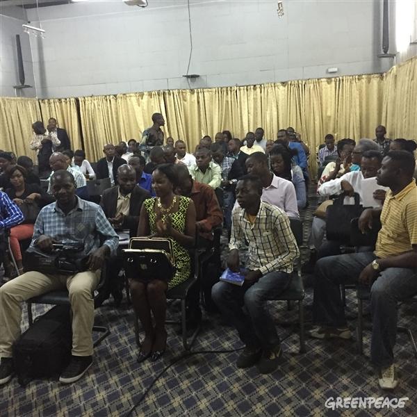Conférence de presse de la société civile RDC Moratoire