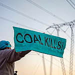 Break Free from Coal & Protect Water Action in South Africa. © Shayne Robinson