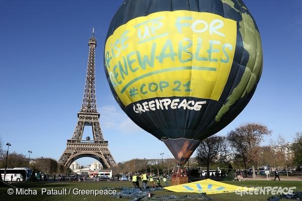 100% renouvelables à la COP21 Paris