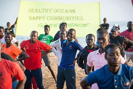 World Oceans Day 'Flash Mob' in Dakar. © Clément  Tardif