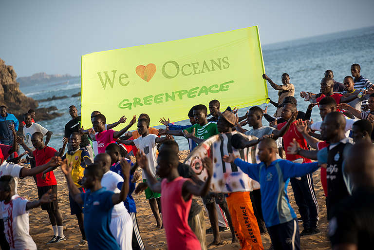World Oceans Day 'Flash Mob' in Dakar. © Clément  Tardif