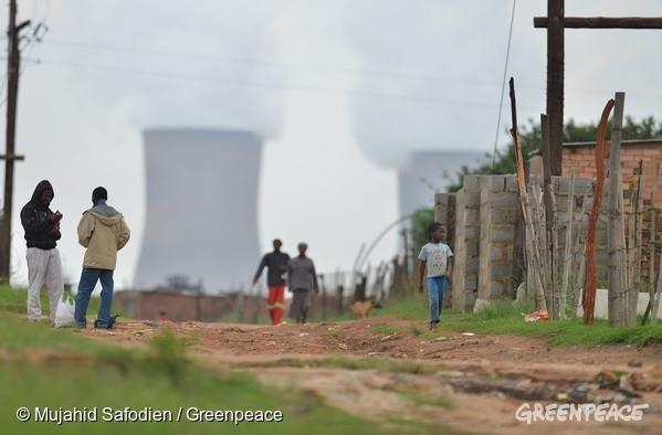abords d'une mine de charbon en Afrique du Sud