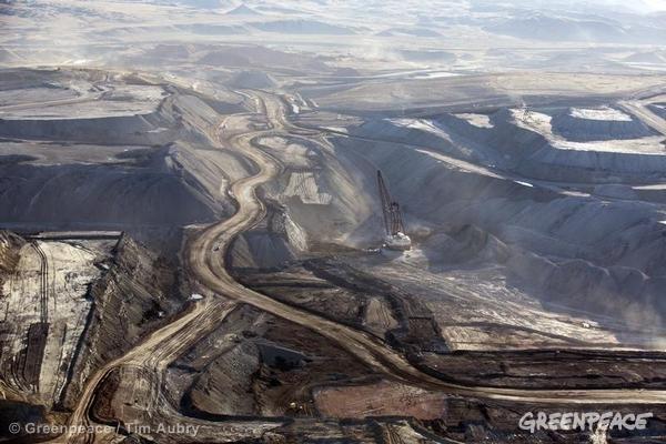 mine de charbon à ciel ouvert aux Etats-Unis