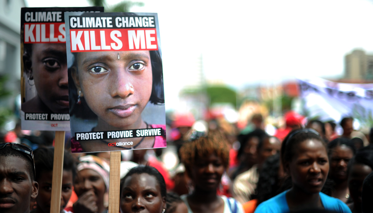 Climate Protest at COP 17. © Shayne Robinson