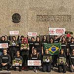 Activistas se manifestaron por los pueblos indígenas del Amazonas brasileño