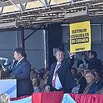 Greenpeace intervino el acto inaugural de la exposición ganadera de la Sociedad Rural
