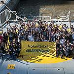 """Voluntarios de Greenpeace visitaron el buque """"Esperanza"""""""
