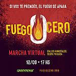 """Greenpeace realizará """"Fuego Cero"""", la primera marcha virtual en Argentina"""
