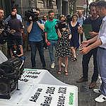 Greenpeace geeft verbrandingsmotor aan Brusselse onderhandelaars
