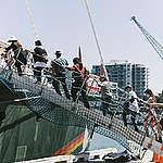 Persuitnodiging Greenpeace: Rainbow Warrior in België