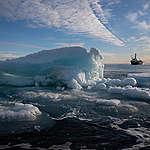 Zeeijs op de noordpool bereikt alarmerend laag peil