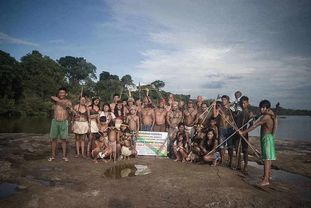 Povo Munduruku inicia sinalização da Terra Indígena Sawré Muybu