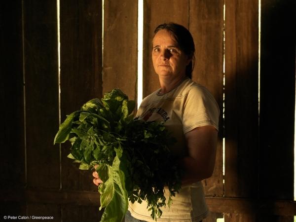 Retrato da produtora agroecológica Maria das Graças de Souza Batisti