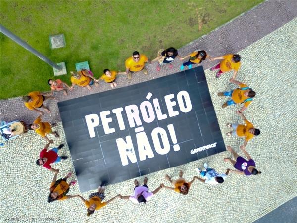 Voluntários de várias cidades do Brasil fizeram atividades no dia 28 de janeiro, com quebra-cabeças gigantes para chamar atenção à ameaça que os corais sofrem da indústria do petróleo. Foto: Kamila Oliveira/Greenpeace