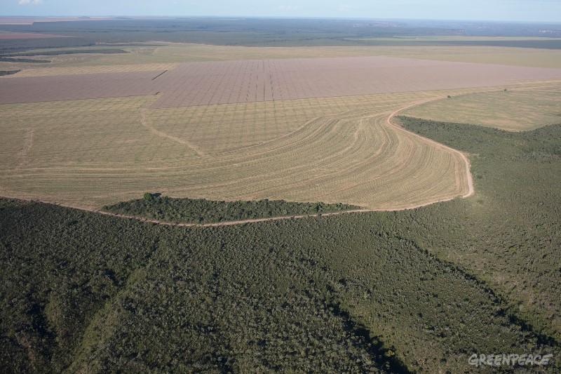 Vista aérea do município de Balsas, Maranhão.