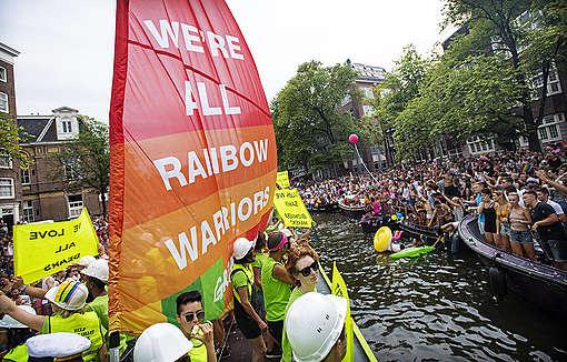 Parada Gay de Amsterdã 2018. © Marten van Dijl