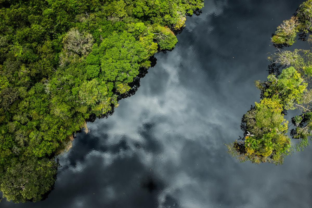 Rio Tapajós, em março de 2015, que na época tinha o seu curso ameaçado pela construção de hidrelétricas.