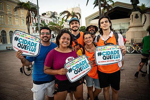 Participantes do Dia Mundial Sem Carro em Recife © Eric Gomes