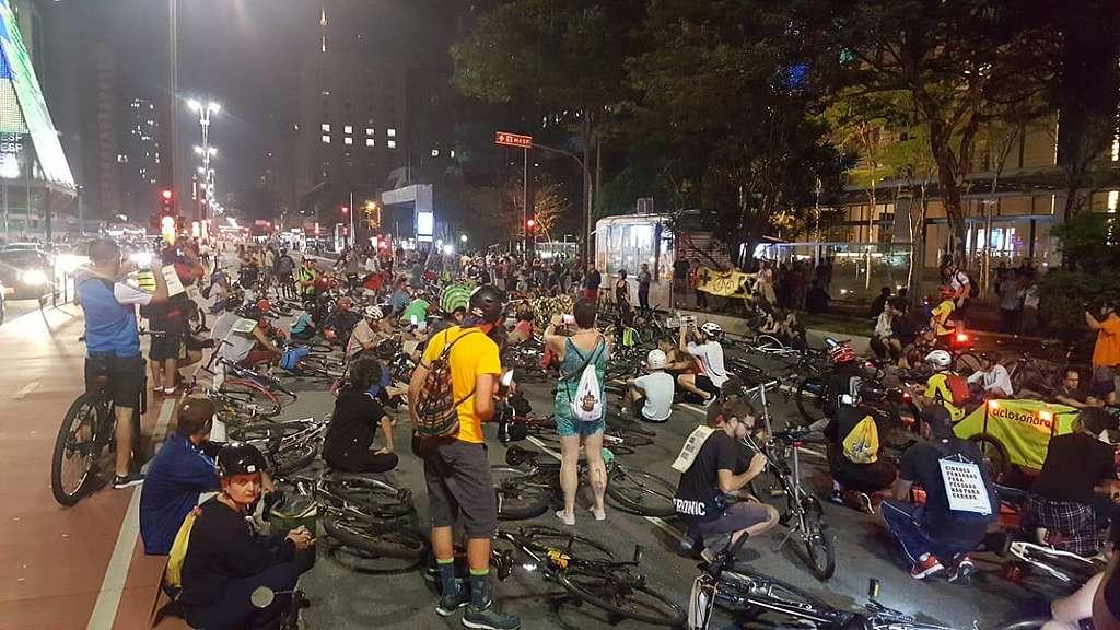 Bicicletada em São Paulo
